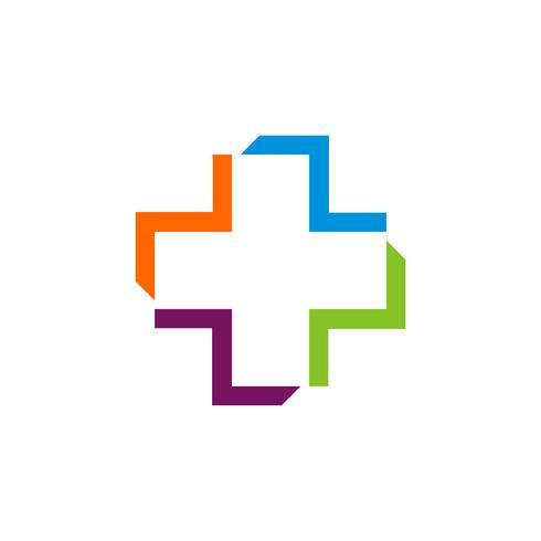 Hälsovård Cross Logo Mall Illustration Design. Vektor EPS 10.