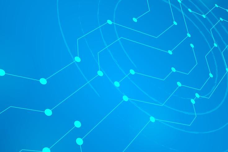 Linha de círculo digital fundo azul