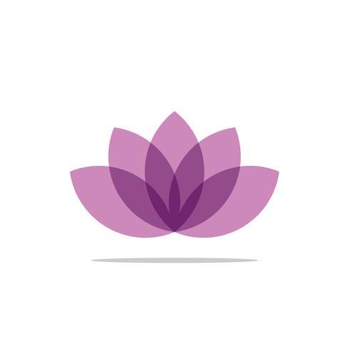 Lotus oder Lily Flower Decorative Logo Template Illustration Design. Vektor EPS 10.