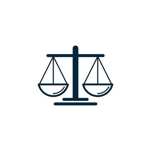 Échelle de la justice Logo Template Illustration Design. Vecteur EPS 10.