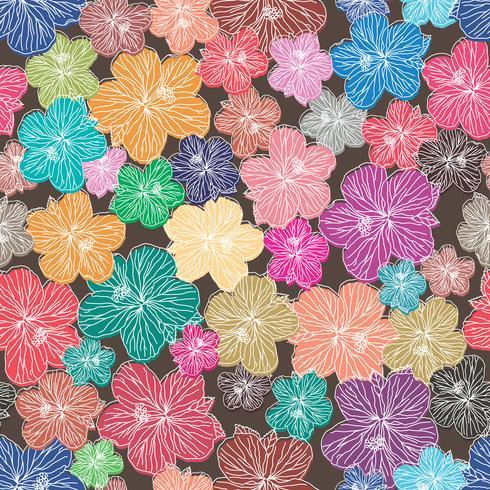 Fundo sem costura elemento floral.