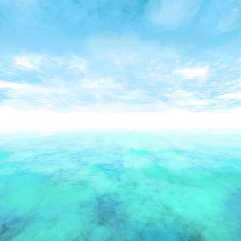 Vektor abstrakt moln och hav bakgrund.