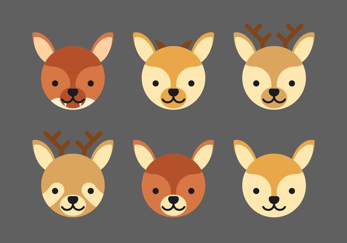 Conjunto de caras de animales