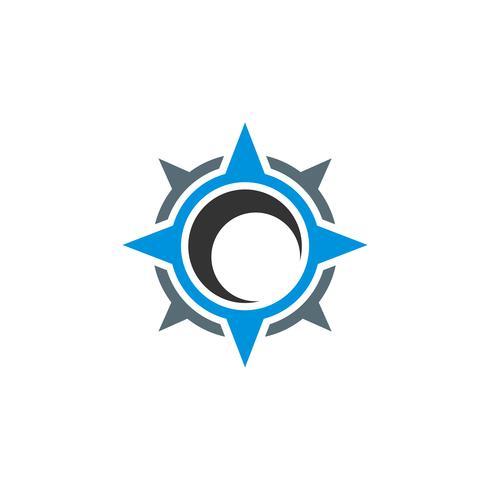 Bussola Rose Star Logo Template Illustration Design. Vettore ENV 10.