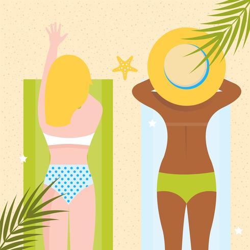 Vetorial, verão, ilustração