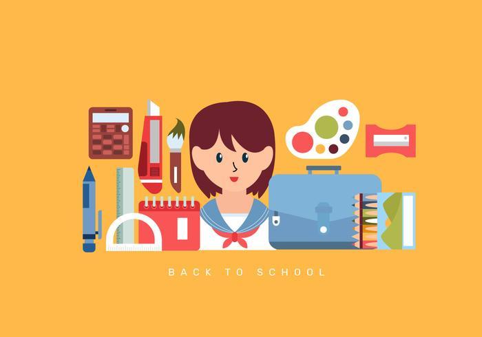 Back to School Essentials Vector Illustration