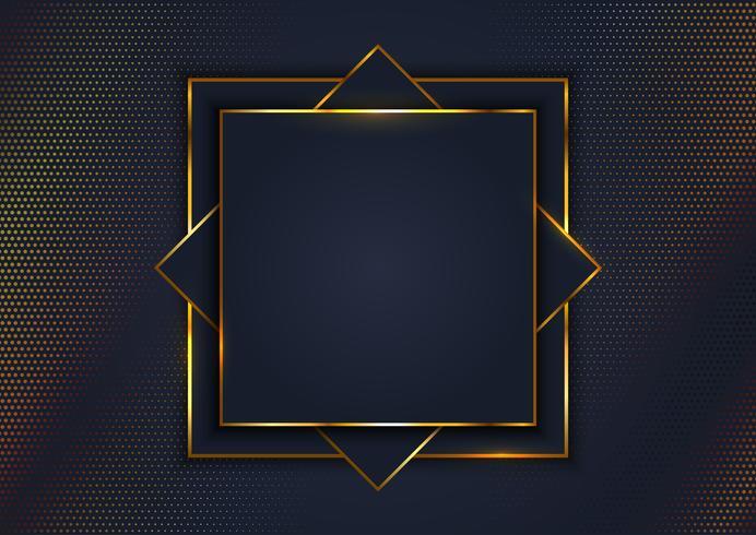 Fundo elegante com moldura de ouro