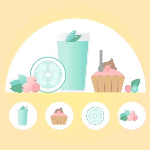 Vektor-Lebensmittel-Illustration
