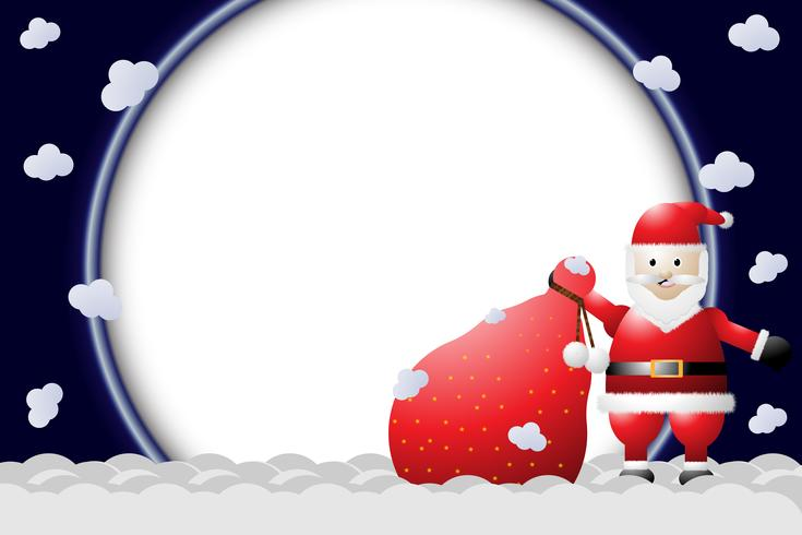 de door de Kerstman ingesloten opening vector