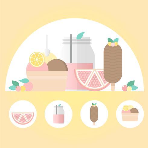 Vector comida ilustração