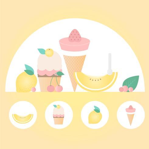 Elementos de comida de vetor