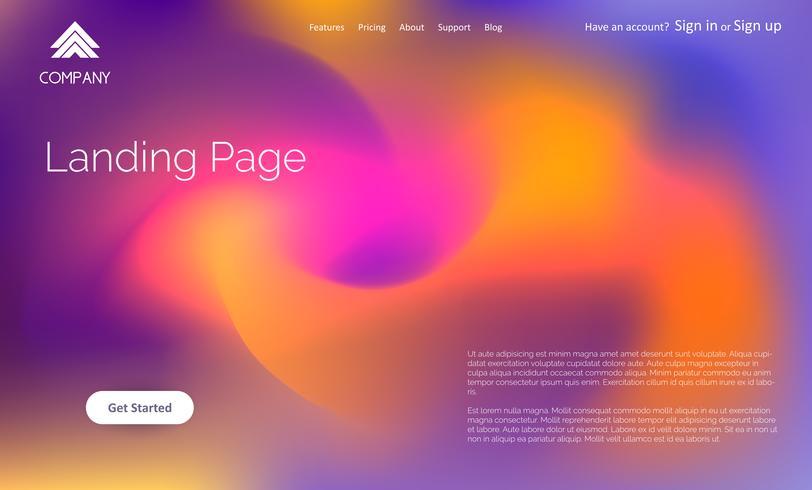 Diseño de página de aterrizaje abstracta