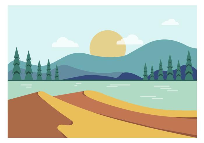 Ilustração vetorial paisagem