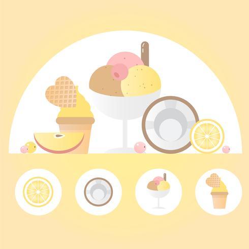 Vector de elementos alimenticios