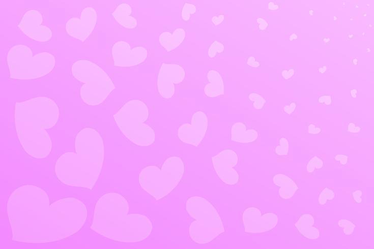 O plano de fundo de um fundo rosa em forma de coração