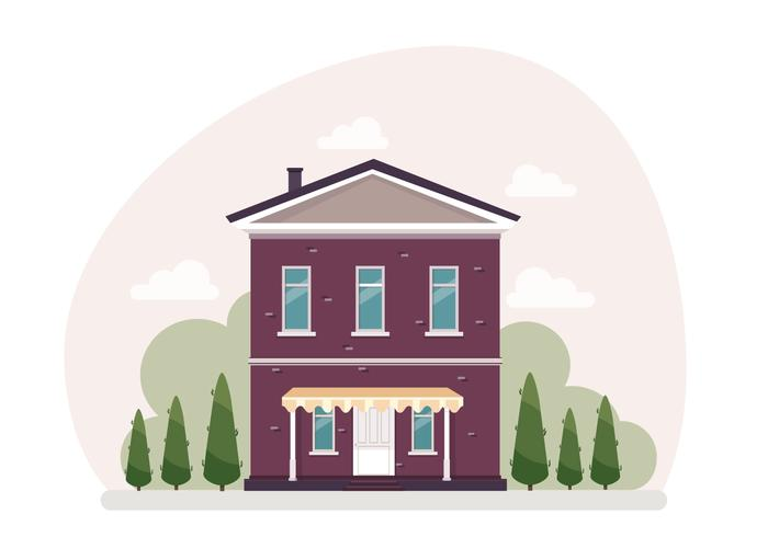 Vektor-Haus-Illustration