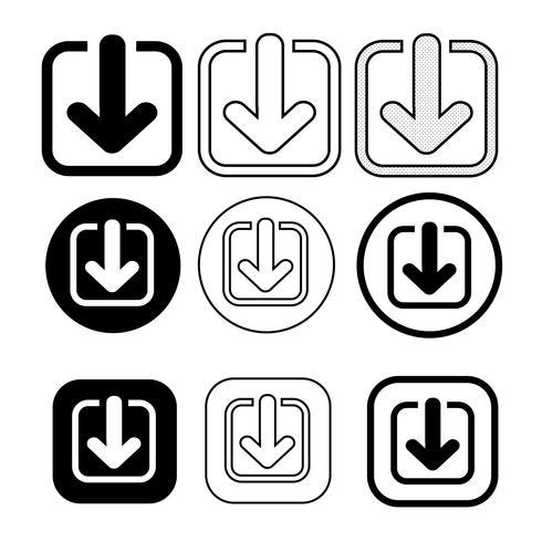set van eenvoudige teken download icoon