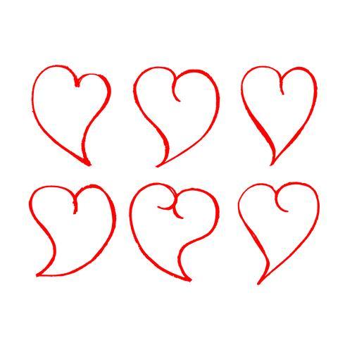 Icono de corazón dibujado a mano