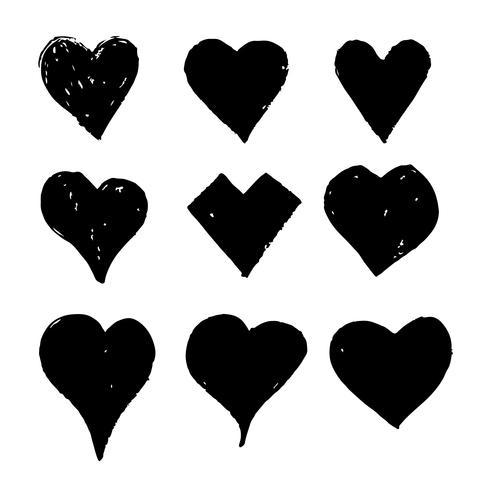 Hand gezeichnete Herz-Symbol