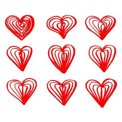 Icône de coeur dessiné à la main