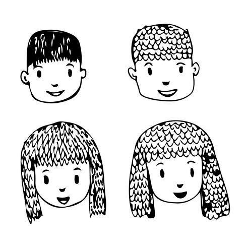 People face cartoon icon design