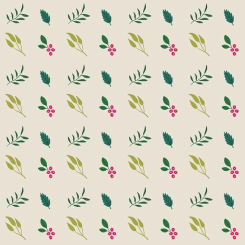 Seamless Flower and Leaves Pattern