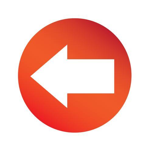 icono de signo de flecha simple