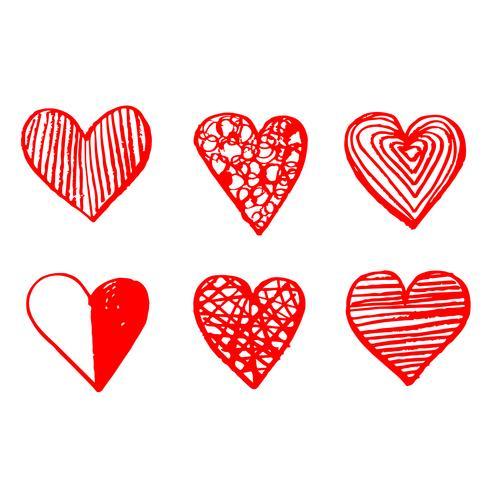 Signe d'icône coeur dessiné à la main