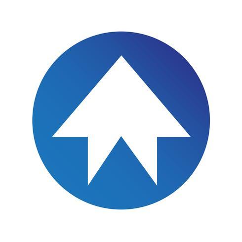 icona del segno di freccia semplice