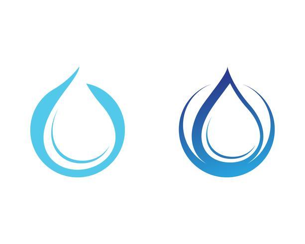 Goutte d'eau et illustration vectorielle Logo Logo Template