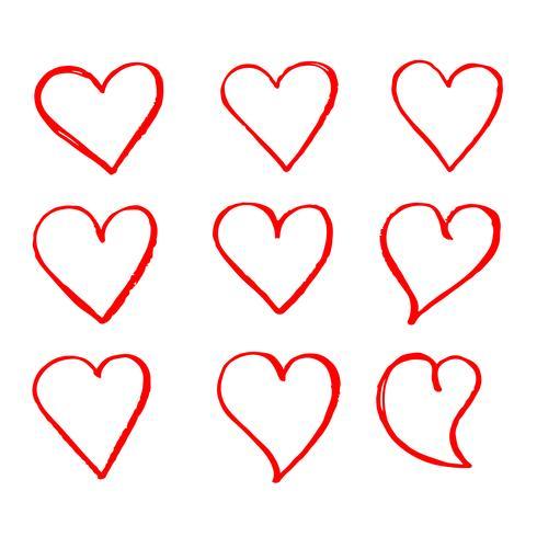 Mão, desenhado, coração, ícone, sinal