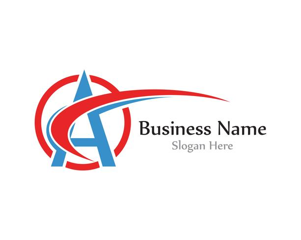 Un logo de lettre avec le vecteur swoosh