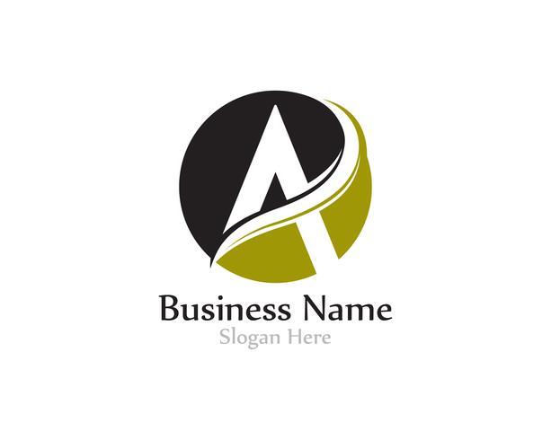 Ein Brief-Logo mit Swoosh-Vektor
