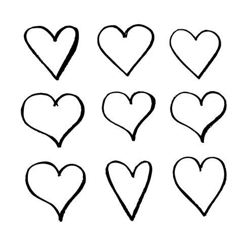 Icona del cuore disegnato a mano