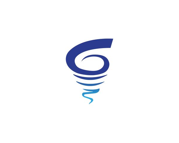 Vortex-logo en symbool vector