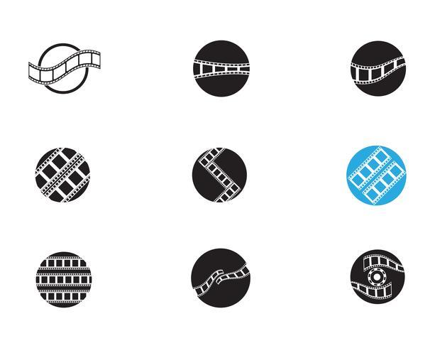 filmstrip pictogram vector illustratie sjabloon