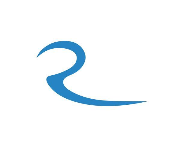 Rivier Logo Template vector pictogram illustratie vector