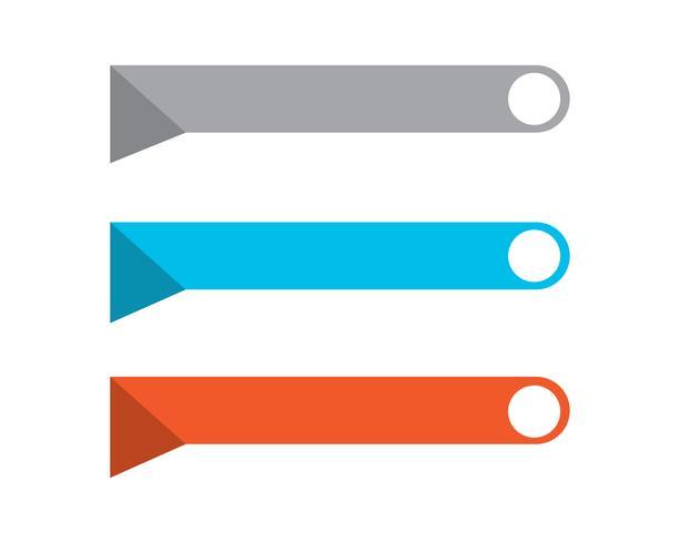 Discurso burbuja icono Logo plantilla vector