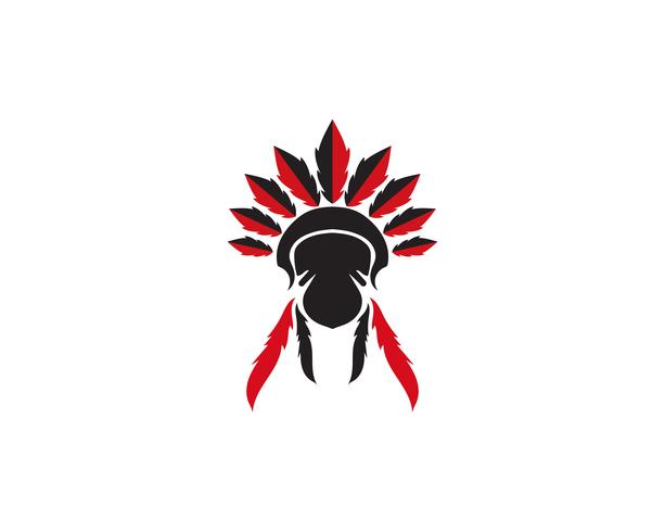 Mascote do chefe indiano