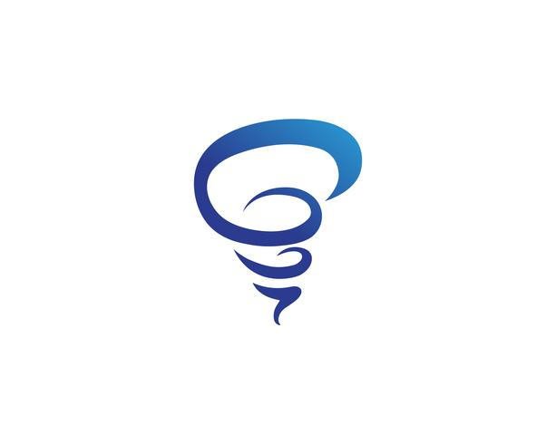 Logotipo de vórtice e vetor de símbolo