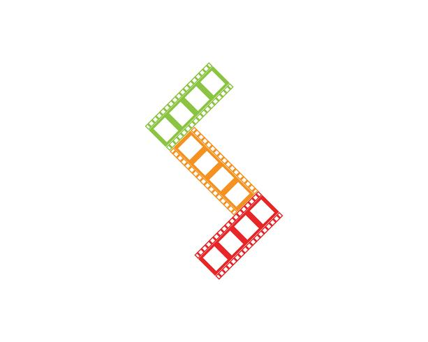 película tira icono vector ilustración plantilla