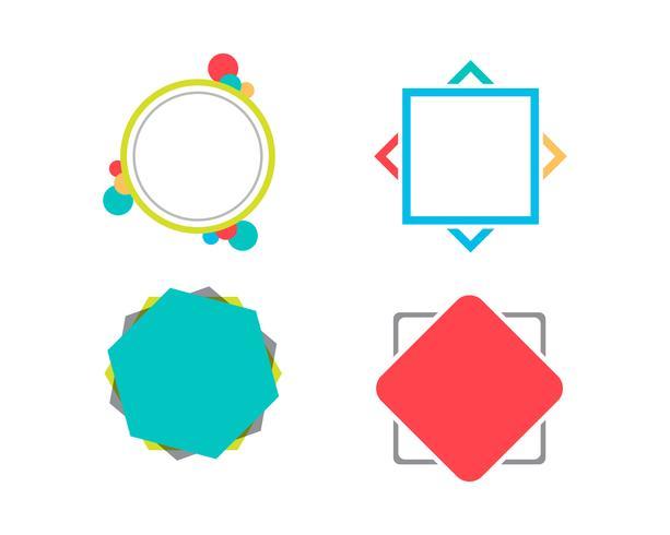 Icona a fumetto Logo template vettoriale