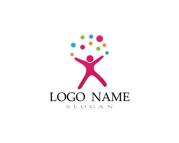Adoption barn logotyp och symbol hälsa vektor