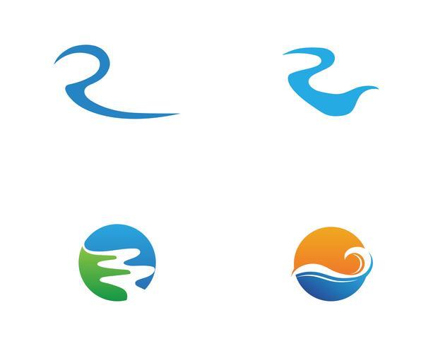 Fluss Logo Vorlage Vektor Icon