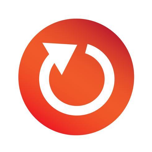icône de signe de flèche simple