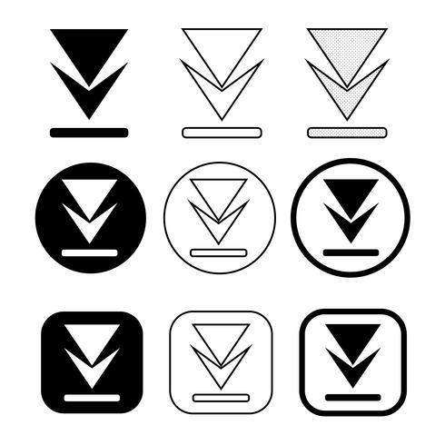 uppsättning ikon för enkel skyltning