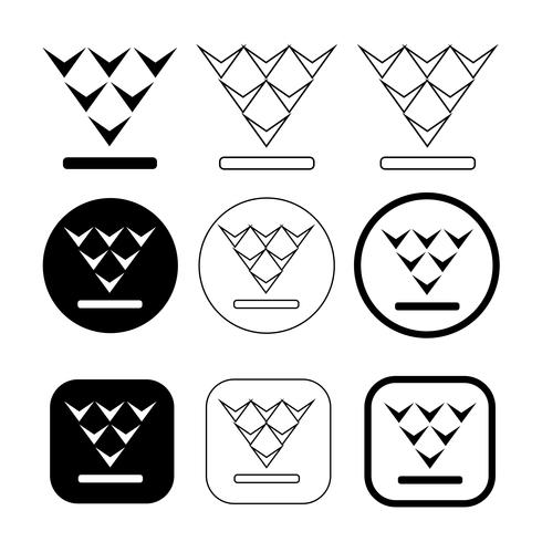 set di icona semplice download di segno