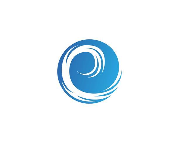 Logo vortex et vecteur symbole
