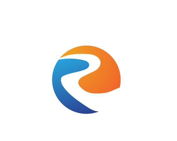 River Logo Template ícone de vetor