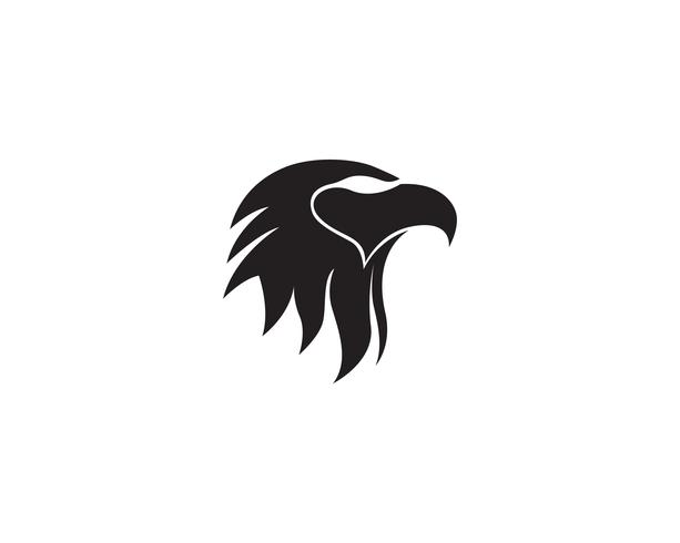Aigle tête logo vecteur et symbole